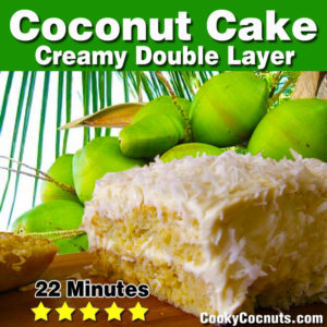 Coconut Layer Cake Recipe with Ingredients and Instructions